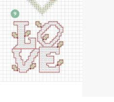 Love - Cross Stitch Small