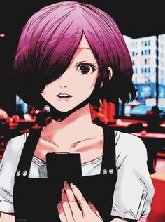 Touka in Tokyo Ghoul:re She changed very much on her personality based on her appearance probably Ken Kaneki's influence.