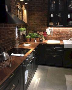 20 Impressive Kitchen Cabinet Design Ideas For Your Inspiration Modern Kitchen Cabinets Cabinet Design Ideas impressive Inspiration Kitchen Farmhouse Kitchen Decor, Home Decor Kitchen, Diy Kitchen, Kitchen Interior, Kitchen Wood, Kitchen Ideas, Exposed Brick Kitchen, Kitchen Modern, Brick Wall Kitchen