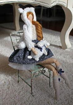 Handmade Tilda Winter Doll | -mybelladolls- - Dolls & Miniatures on ArtFire