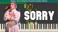 Sorry Piano Tutorial - Free Sheet Music (Halsey)