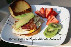 Bacon, Egg, Cheese and Avocado Sandwich