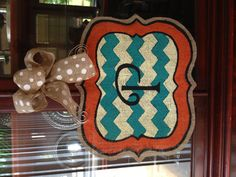 Burlap door hanger...I may have to do this today!!