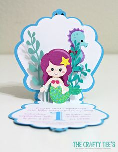 These unique and creative Mermaid Under The Sea Pop-up Cards are the perfect way to invite your guests over for your little ones Mermaid Themed