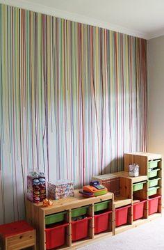 Mit ein wenig Farbe in einer Injektionsspritze geben Sie den Wänden einen tollen Look! Perfekt für ins Kinderzimmer! - DIY Bastelideen
