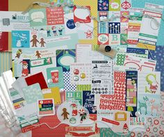 2013 Very Merry December Kit...love the starbucks red cup journaling card