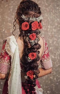 Wedding Hairstyle Design For Formal - top latest indian bridal wedding hairstyles images 2019 Bridal Hairstyle Indian Wedding, Wedding Hairstyle Images, Bridal Hair Buns, Long Hair Wedding Styles, Wedding Hairstyles For Long Hair, Wedding Updo, Diy Wedding, Indian Hairstyles, Bride Hairstyles
