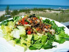 Lentil Salad Urban Cottage, Lentil Salad, Lentils, Cobb Salad, Salads, Canning, Food, Lenses, Essen