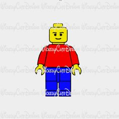 Lego Man SVG, DXF, EPS, PNG Digital File – Wickedly Cute Designs