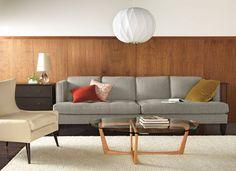 Best sofa ever. Super deep, tufted, I own it in grey velvet.