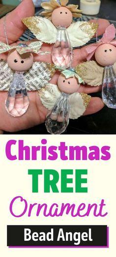 Diy Christmas Angel Ornaments, Christmas Fairy, Beaded Ornaments, Christmas Angels, Christmas Crafts, Christmas Decorations, Christmas Ideas, Ornament Crafts, Diy Angels