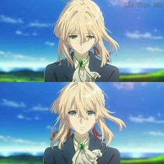 Read 1 from the story ✉✒VIOLET EVERGARDEN ✉✒ by _-cats_kawaii-_ (🌸kartoffel 🌸) with reads. Sad Anime, Kawaii Anime, Manga Anime, Blonde Hair Anime Girl, Violet Evergreen, Violet Garden, Violet Evergarden Anime, L Death, Double Picture