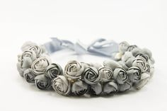 Silver Flower Necklace, Wedding Necklace, Bib Necklaces, Jewelry handmade on Etsy, 57,60 $