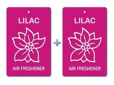 Lilac Air Freshener Paper Hanging Bar(Pack of 2) /Car-Home-Office Natural Floral Fragrance Deodorizer