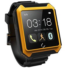Waterproof Ip68 Smart Watch for Android and Ios Smartphone ZZU Terra Orange >>> Read more reviews of the product by visiting the link on the image.