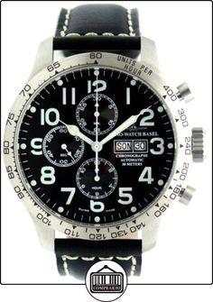 Zeno-Watch Reloj Mujer - Oversized Pilot Tachymeter Chrono DD Tachymeter - 8557TVDDT-a1  ✿ Relojes para mujer - (Lujo) ✿