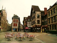 Troyes - I loved all the crooked buildings when I was there.