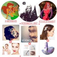 Halloween Help: Follow the links if you need a little beauty help with your mermaid, starlet or bombshell costume.