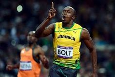 The fastest man in the world! A Jamaican!