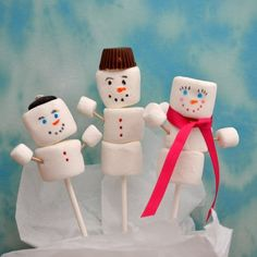 holiday food gifts: marshmallow snowmen #coolholiday