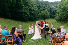 Sunrise wedding ceremony at the Barn at Chestnut Springs, Sevierville.