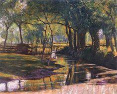 Władysław Podkowiński - Strumień między drzewami, 1893
