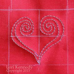 "Good Morning, Quilters! Just days to go before St. Valentine's Day…chocolates, roses, love letters, hearts…. This tutorial is called ""The Doodle Heart""  because I have been doodling this motif fore..."