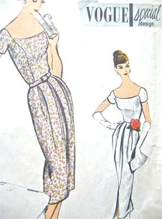 Vogue Special Design Gown Pattern S4848 with Label by Fancywork