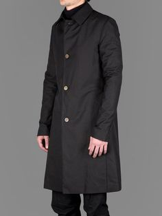 A DICIANNOVEVENTITRE LONG MAC COAT IN ENGLISH COTTON WITH TWO SEAM POCKETS