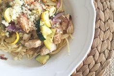 Favorite Summertime Dinner: Farmstand Vegetables and Chicken Pasta