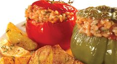 Looking for a traditional Greek Gemista/ Yemista recipe (stuffed tomatoes and peppers with rice)? Find out how to bake them to perfection with this locally sourced recipe and secret hints and tips! Greek Recipes, Vegan Recipes, Cooking Recipes, Yemista Recipe, Greek Dishes, Main Dishes, Side Dishes, Greek Cooking, Summer Dishes