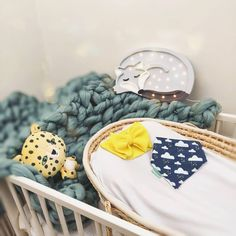🐺 loving this simplistic nursery design 🐯 girls can wear blue too 💪 . featuring And our lovely bow and bib 💛 . Dribble Bibs, Design Girl, Nursery Design, Bows, London, Canning, Girls, How To Wear, Handmade