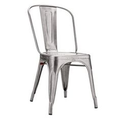 Shop the authentic Tolix Marais A Chair, a casual yet stylish dining chair, part of the quintessential French café collection from Tolix. Tolix Chairs are made from sheet steel with a high-gloss finish. Shop the Tolix Chair. Modern Outdoor Furniture, Modern Chairs, Rustic Furniture, Furniture Ideas, Cafe Furniture, Modern Armchair, Furniture Inspiration, Garden Furniture, Furniture Design