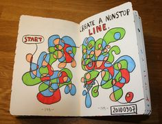 Create a nonstop line. I am going to try and make go all the way through the rest of the book.