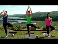 Celebrity yoga instructor Hilaria Baldwin leads an invigorating Vinyasa Ashtanga yoga workout, on the grounds of the beautiful Boscobel House and Gardens in Garrison, New York.