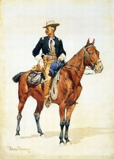 Lieutenant S. C. Robertson, Chief of the Crow Scouts by Frederic Remington #art