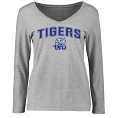 Tennessee State Tigers Women's Proud Mascot Slim Fit Long Sleeve T-Shirt - Ash