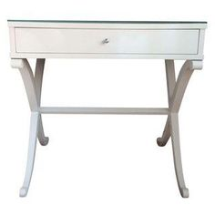 Barbara Barry White Lacquered Bedside Tables