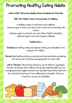 Posters / Signs :: Promoting Healthy Eating - An EYLF Resource Pack