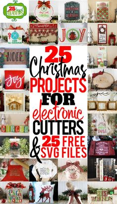 25 Days of Craftmas 25 Christmas projects you can make with your Silhouette, Cricut, Brother or other electronic cutting machine. Every project includes a free Christmas SVG file so you can make the project at home. Christmas Silhouette Projects are grea Cricut Christmas Ideas, Christmas Svg, Christmas Projects, Outdoor Christmas, Christmas Stuff, Christmas Cookies, Christmas Decorations, Xmas, Mason Jar Crafts