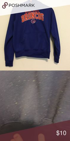 Boise state Broncos sweatshirt Can't get the fuzzy things pictured off. Bought at foot locker Tops Sweatshirts & Hoodies