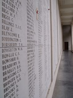 soldier's names are inscribed on the Menin Gate, Ypres. John Timothy Maguire, My ancestor has his name upon the gate after he was killed in the Battle of Passchendale. Menin Gate, Ypres Belgium, Ww1 History, Flanders Field, In Harm's Way, Remembrance Day, The Beautiful Country, World War One, Countries Of The World