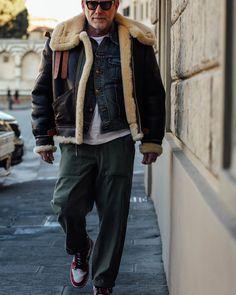 Mens Shearling Jacket, Shearling Coat, Leather Jacket, Nick Wooster, Sheepskin Coat, Pitta, Italian Style, Style Me, Rolex
