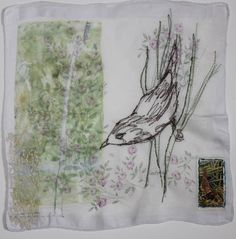 Original Animal Collage by Cas Holmes Thread Art, Thread Painting, Art Textile, Textile Artists, Cas Holmes, Stitch Drawing, Tea Bag Art, Machine Embroidery Projects, Embroidery Ideas