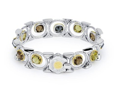#Tacori #FallBling SB134Y101732A hint of rock and roll! Smokey Quartz, Hematite, and Olive Quartz create a sophisticated sense of bold style. This unique bracelet, is just enough to make you do a double take!- Tacori Fall Bling