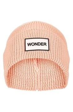 A classic rib-knit cap keeps your imaginative mind warm and cozy.