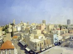 John Dubrow: Tel Aviv, 2000, oil on canvas, 59 x 78 3/4 in