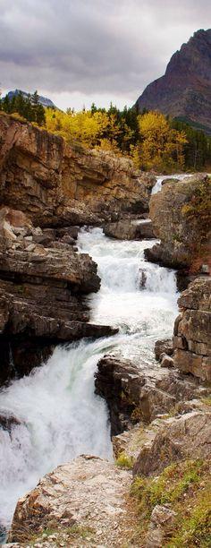 awesome Apikuni Falls, Glacier National Park, Montana...