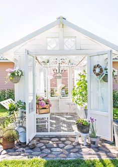 Shed Conversion Ideas, Home And Garden Store, She Sheds, Shed Design, How Many People, Shed Plans, Native Plants, Gazebo, Cottage