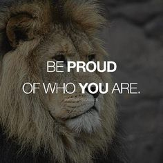 Success-Quotes with BJ Bjorne Denzel-Mula Lumbwe and 19 others. BE PROUD OF WHO YOU ARE. Tiger Quotes, Lion Quotes, Mindset Quotes, Success Quotes, Words Of Wisdom Quotes, Strong Quotes, Girls Life, Natural Healing, Inspirational Quotes